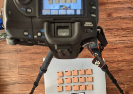 Photographing ceramic test tiles
