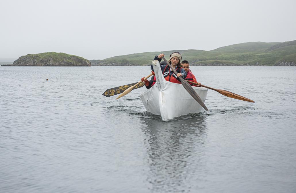 Angyaaq paddling